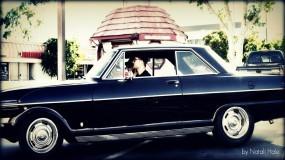 Robert Pattinson in Chevy Nova 1963