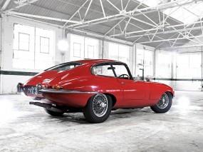 Обои Красный Ягуар: Jaguar, Ретро, Гараж, E-type, Jaguar