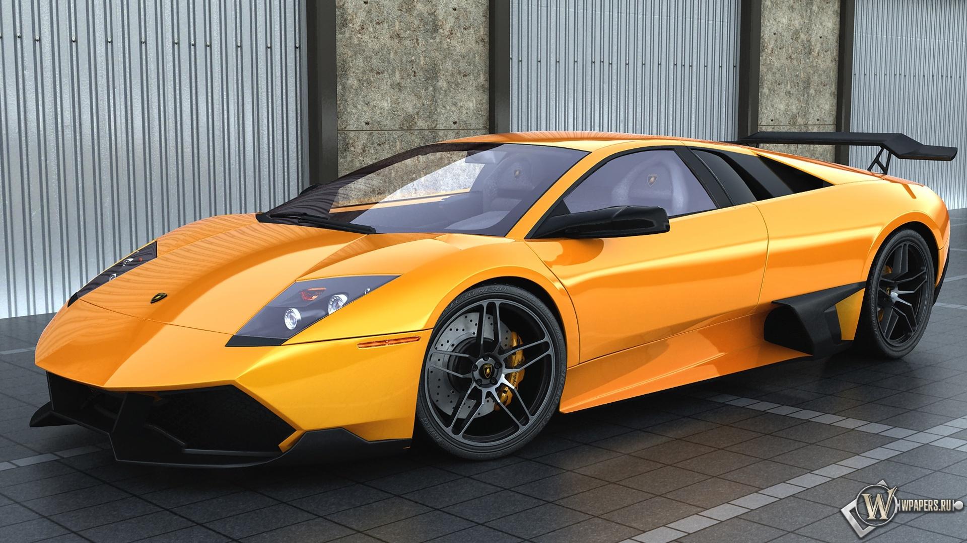 Скачать обои Lamborghini Lamborghini Оранжевый для