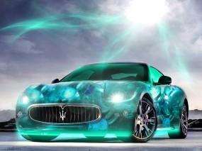Неоновый Maserati