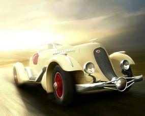 Рисованное ретро авто