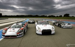 Nissan GT-R - Chevrolet Corvette - Ford GT - Saleen S7R - FIA GT Contenders Testing