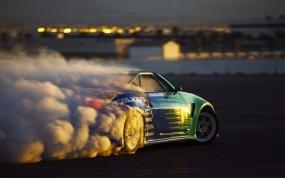 Дым из под колес