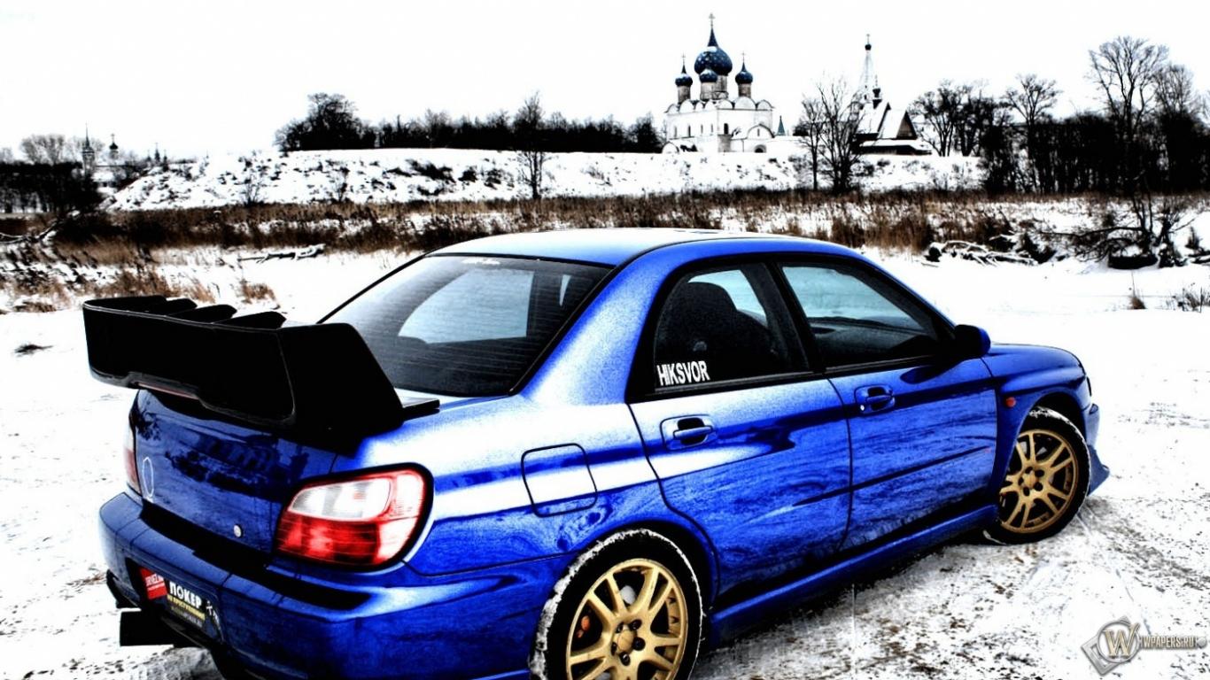 Subaru impreza wrx sti обои для рабочего стола 1