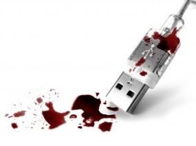 Обои Кровавый USB: Кровь, USB, Компьютерные