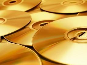Обои Золотые диски: Диск, Золото, Диски, Красиво, CD, Компьютерные