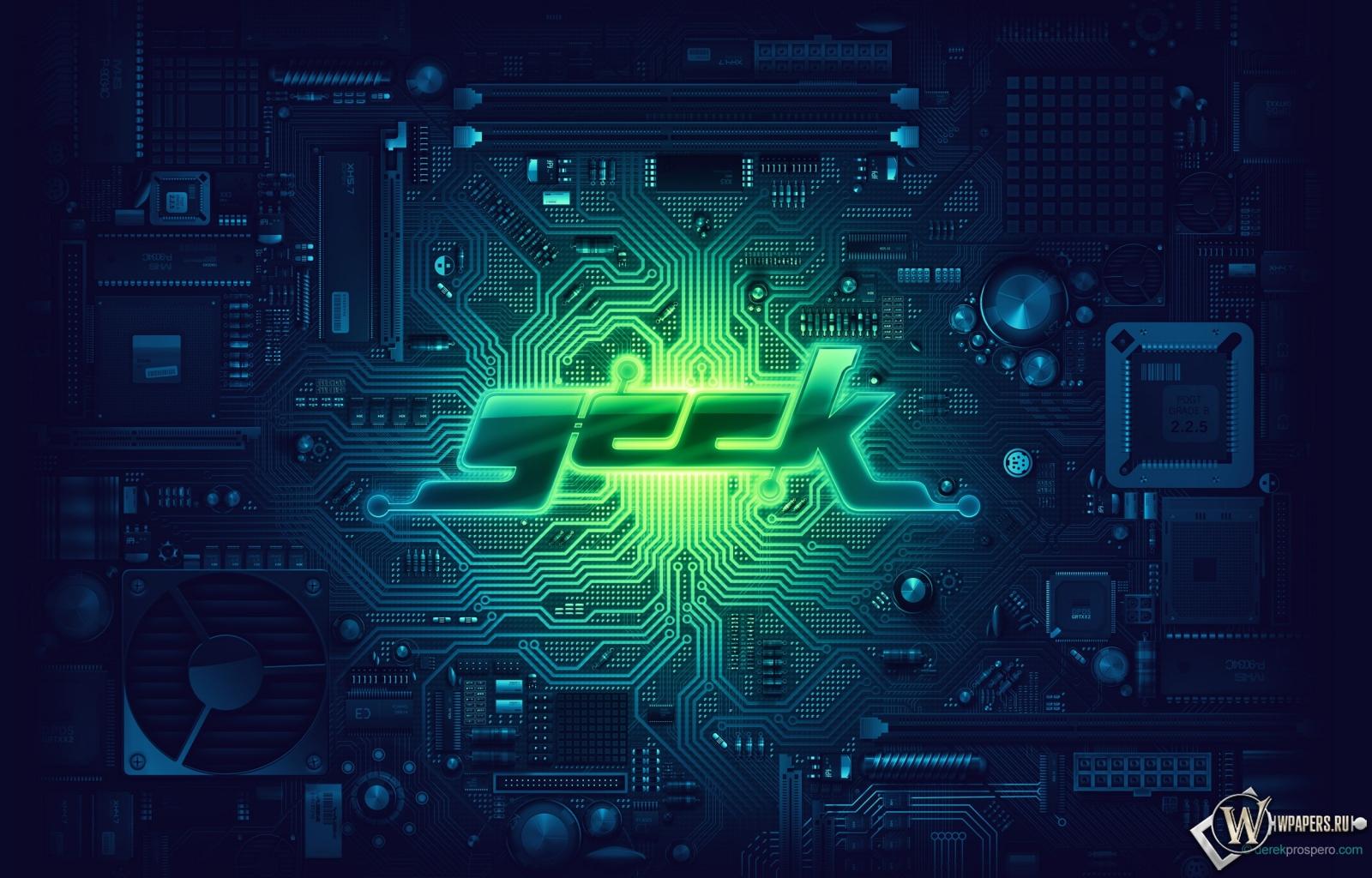 Плата зелёный geek hi tech 1600x1024 картинки