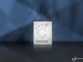 Обои Gnome стальная табличка: Отпечаток, След, Нога, Гном, Плита, Unix