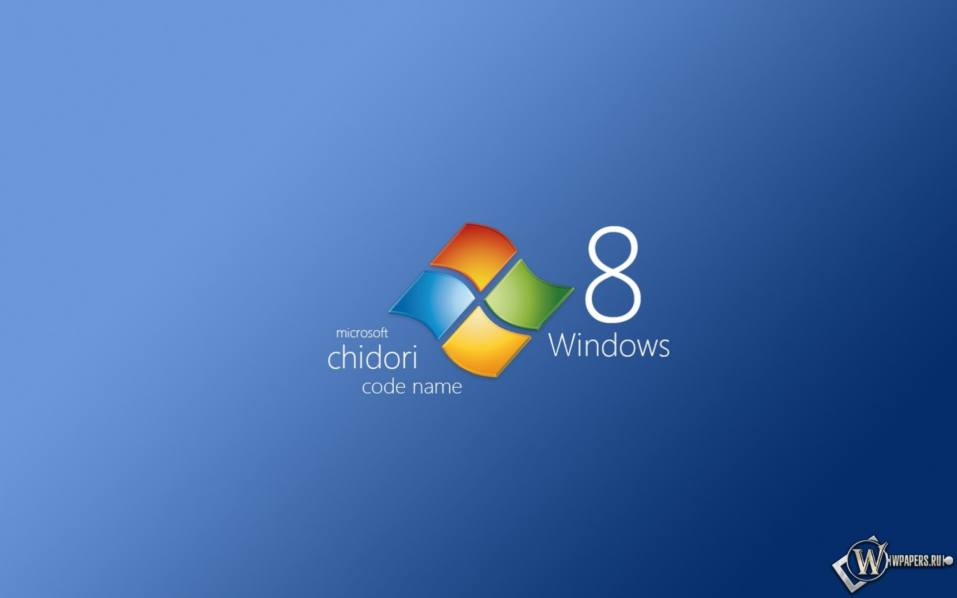 Обои windows 8 chidori windows 8 1920x1200 картинки