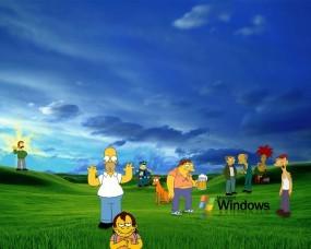 Обои Симпсоны на рабочем столе windows: Windows, Гомер, Барни, Windows