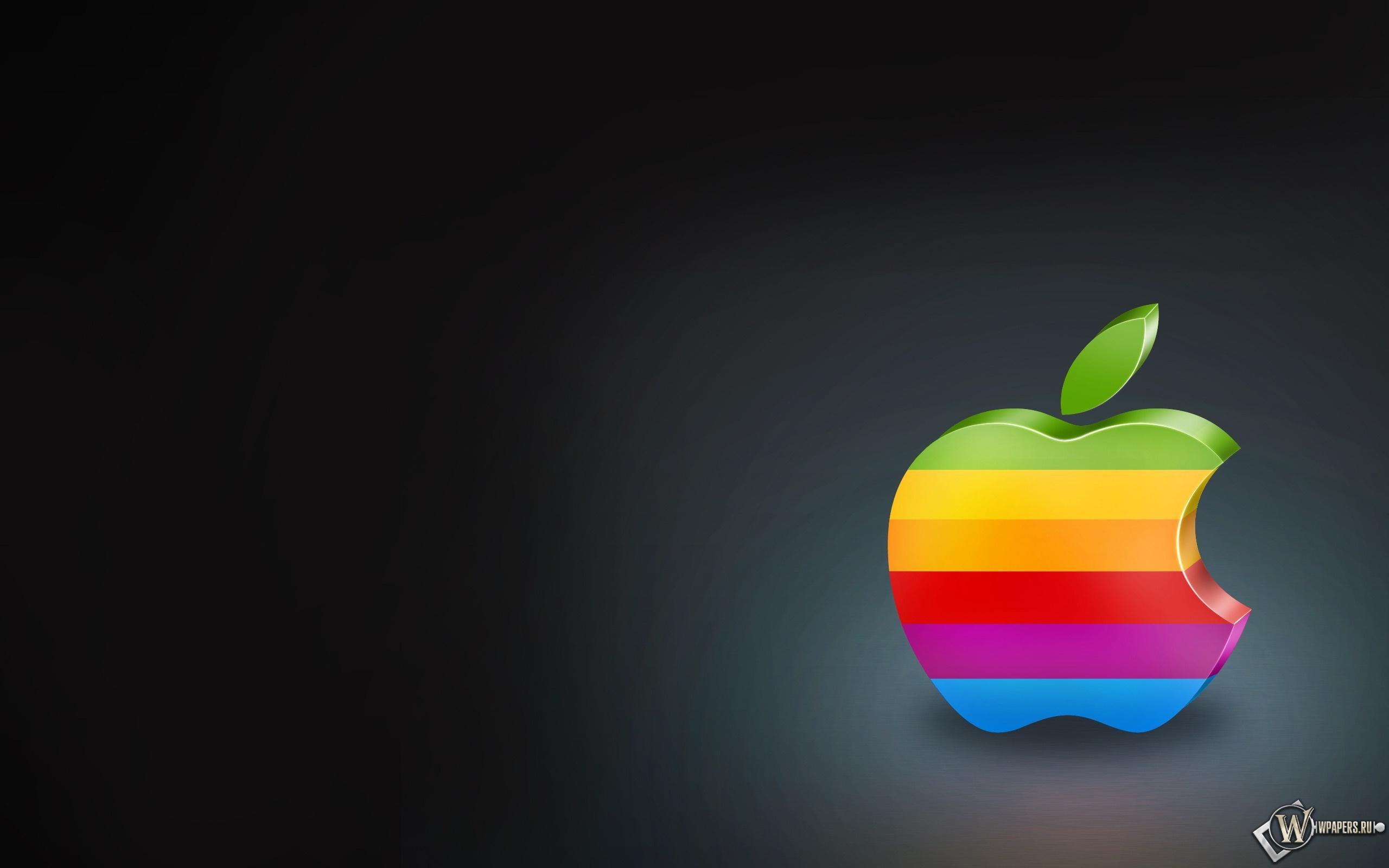 Старый логотип apple 2560x1600