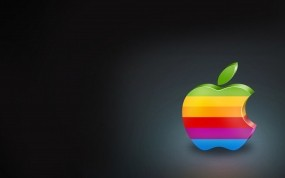 Обои Старый логотип apple: Минимализм, Apple, Яркий, Apple