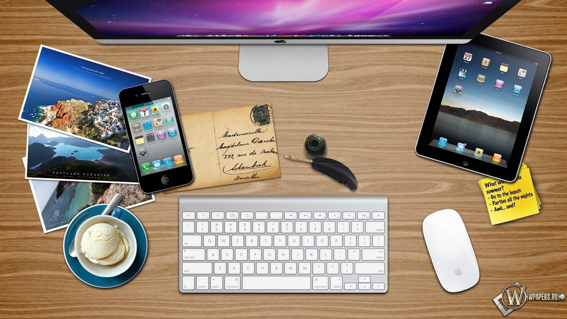 Рабочий стол Apple 1920x1080