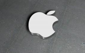 Обои Apple на бетоне: Логотип, Apple, Компьютерные, Apple