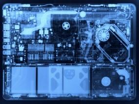 Обои MacBook вскрытие: MacBook, Рентген, Внутренности, Разбор, Компоненты, Железо, Apple