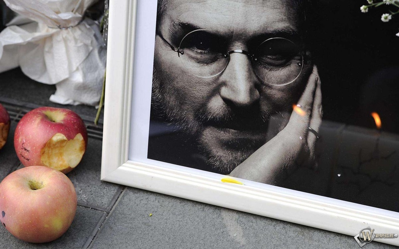 Обои стив джобс тень logo Steve jobs эпл apple на