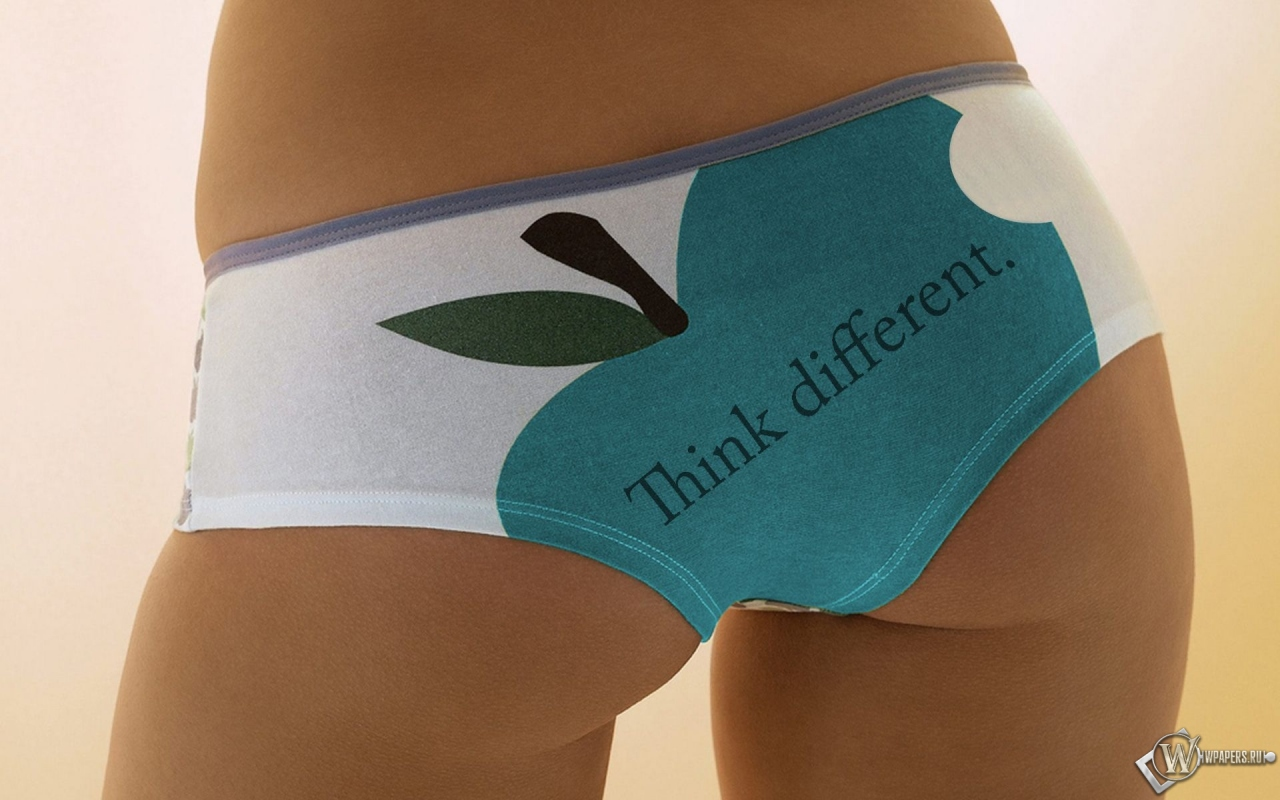 Обои, Apple ass, Девушка, Трусики, Apple, Яблочко, 1280x800, картинки.