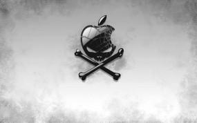 Обои Хакинтош: Apple, Череп, Пиратство, Apple