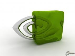 Обои NVidia 3D: Nvidia, Логотип, Видеокарта, Глаз, Логотипы