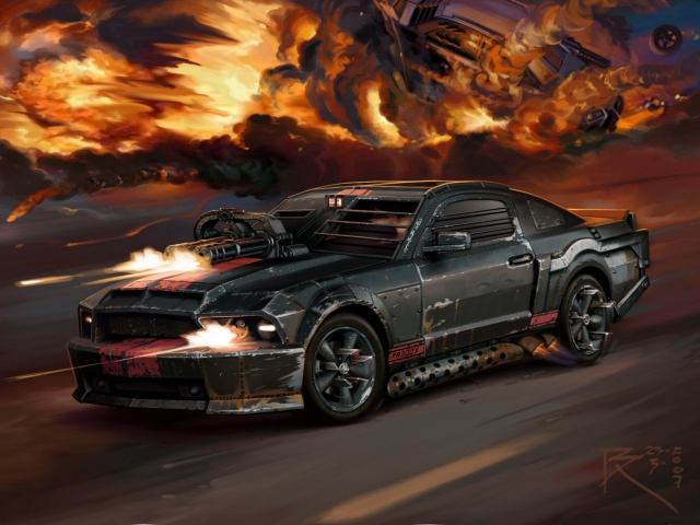 Car ford mustang death race