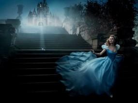 Обои Золушка Скарлет Йохансон: Замок, Лестница, Scarlett Johansson, Скарлет Йохансон, Фильмы