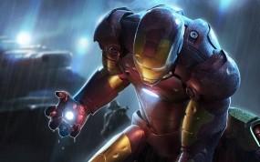 Обои Железный человек: Красный, Iron Man, Железный человек, Мультфильмы