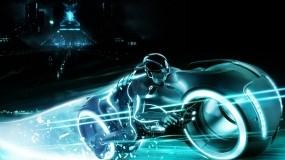Обои Трон Наследие: Мотоцикл, Tron, Neon, Фильмы