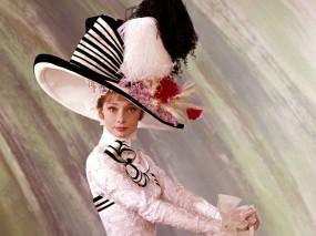Обои Одри Хепберн Моя прекрасная леди: Девушка, Шляпа, Одри хепберн, Фильмы