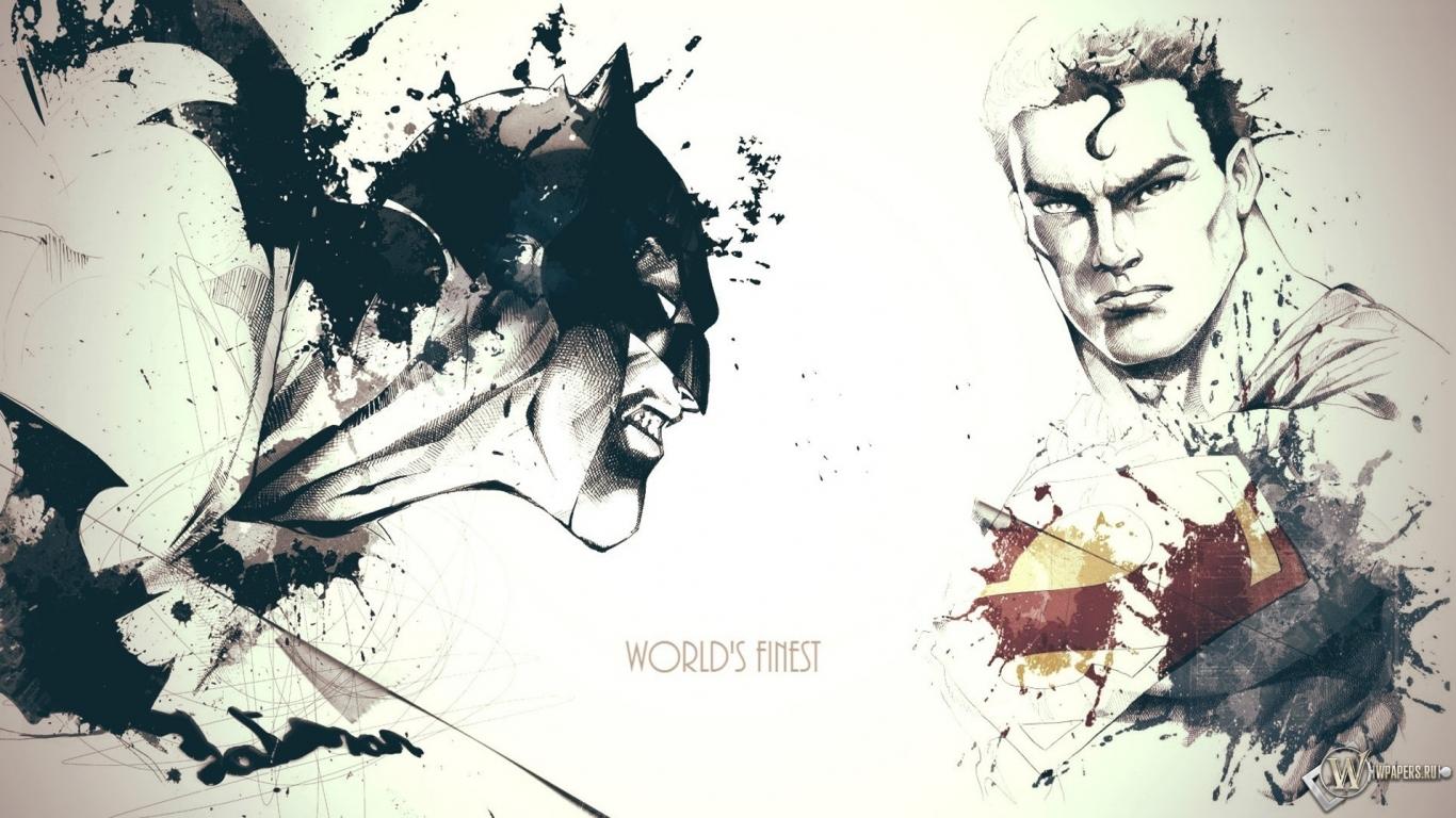 Обои супермен и бэтмен на рабочий стол