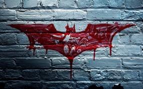 Обои Бэтмэн: Стена, Кровь, Бэтмен, Кирпичи, Мультфильмы