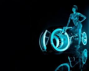 Обои ТРОН наследие - Мотоцикл: Девушка, Кино, Мотоцикл, Трон, Фильмы