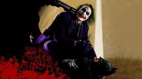 Обои Бэтмен и джокер: Дробовик, Джокер, Бэтмен, Нож, Фильмы