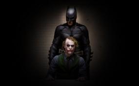 Обои Темный рыцарь: Джокер, Бэтмен, Супергерой, Злодей, Фильмы