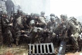 Обои Спасти рядового Раяна: Дождь, Солдаты, Взвод, Фильмы