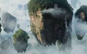 Обои Панорама Пандоры (Avatar): Облака, Скалы, Аватар, Острова, Avatar, Avatar