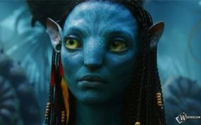 Обои Avatar: Нейтири, Умное лицо, Синяя девушка, Avatar