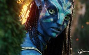 Обои Avatar: Фильм Аватар, Боевой раскрас, Дреды, Avatar