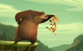 Обои Сезон охоты: Медведь, Олень, Сезон охоты, Мультфильмы