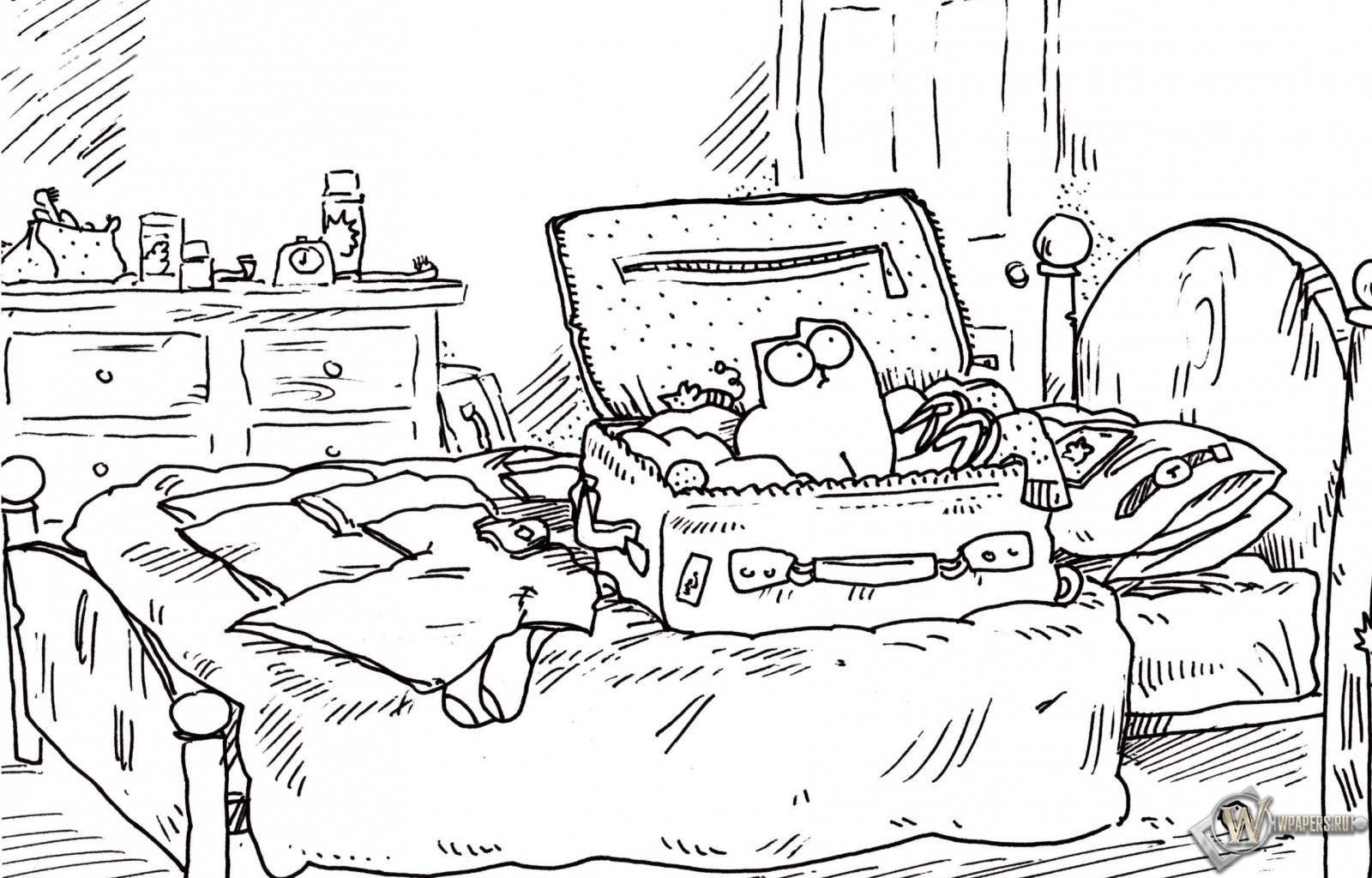 Обои кот саймона на рабочий стол с