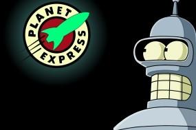 Обои Бендер: Робот, Бендер, Футурама, Мультфильмы