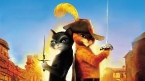 Обои Кот в сапогах: Кот, Мультфильм, Мультфильмы