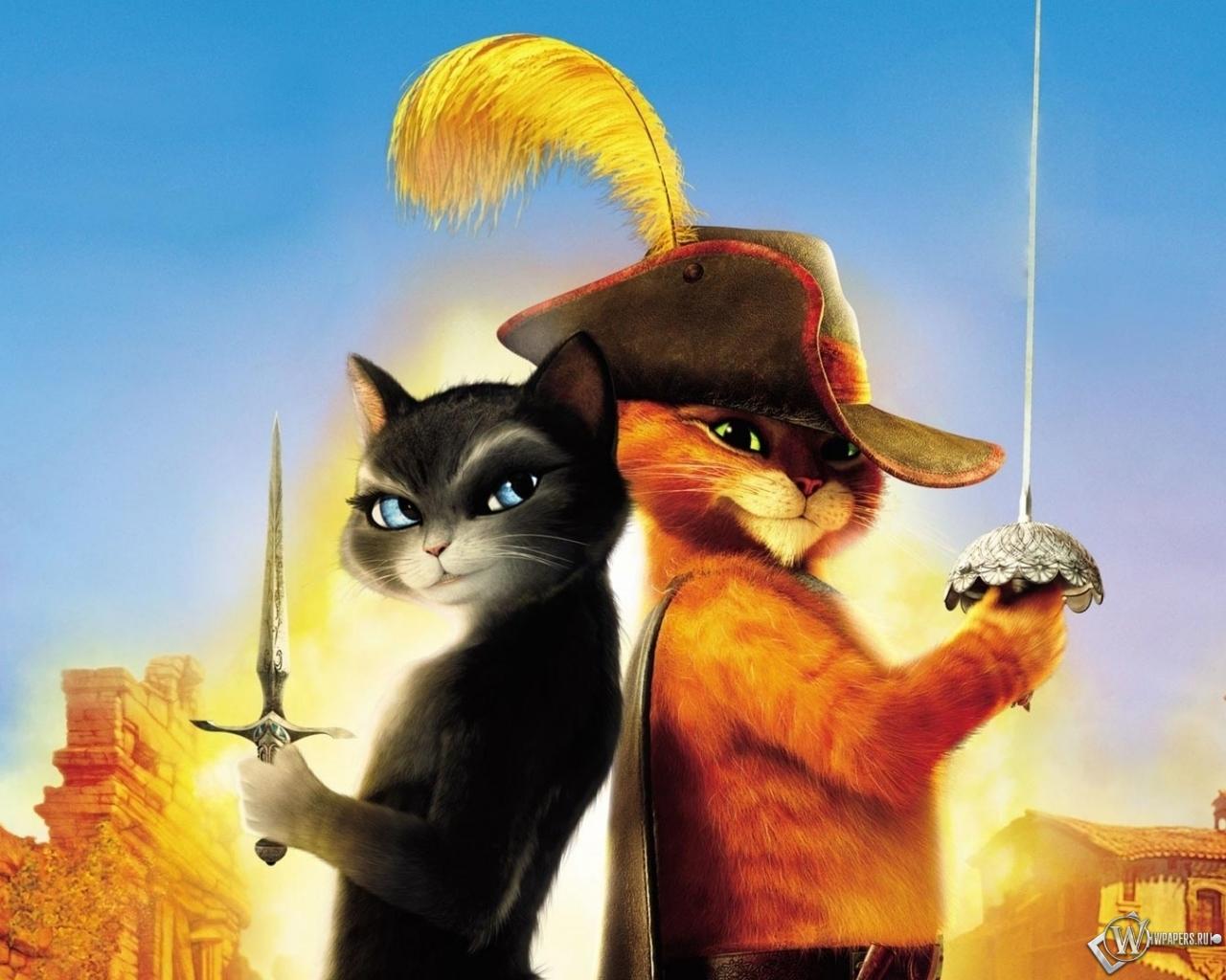 Кот в сапогах кот обоев 114 мультфильм