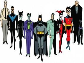 Обои бэтмен: Джокер, Бэтмен, Женщина-кошка, Харли Квинн, Робин, Двуликий, Брюс Уэйн, Мультфильмы