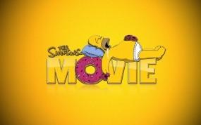 Обои Симпсоны в кино: Симпсоны, Гомер, Пончики, Мультфильмы