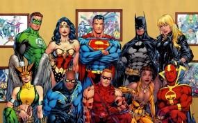 Обои Супергерои: Фото, Дома, Бэтмен, Супергерои, Встреча, Супермен, Мультфильмы