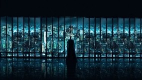 Обои Бэтмен: Город, Бэтмен, Герой, Окна, Мультфильмы