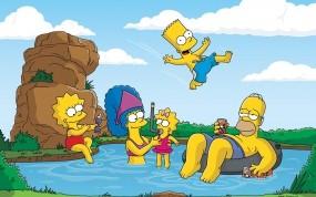 Обои Симпсоны: Гомер, Мардж, Мэгги, Лиза, Барт, Мультфильмы