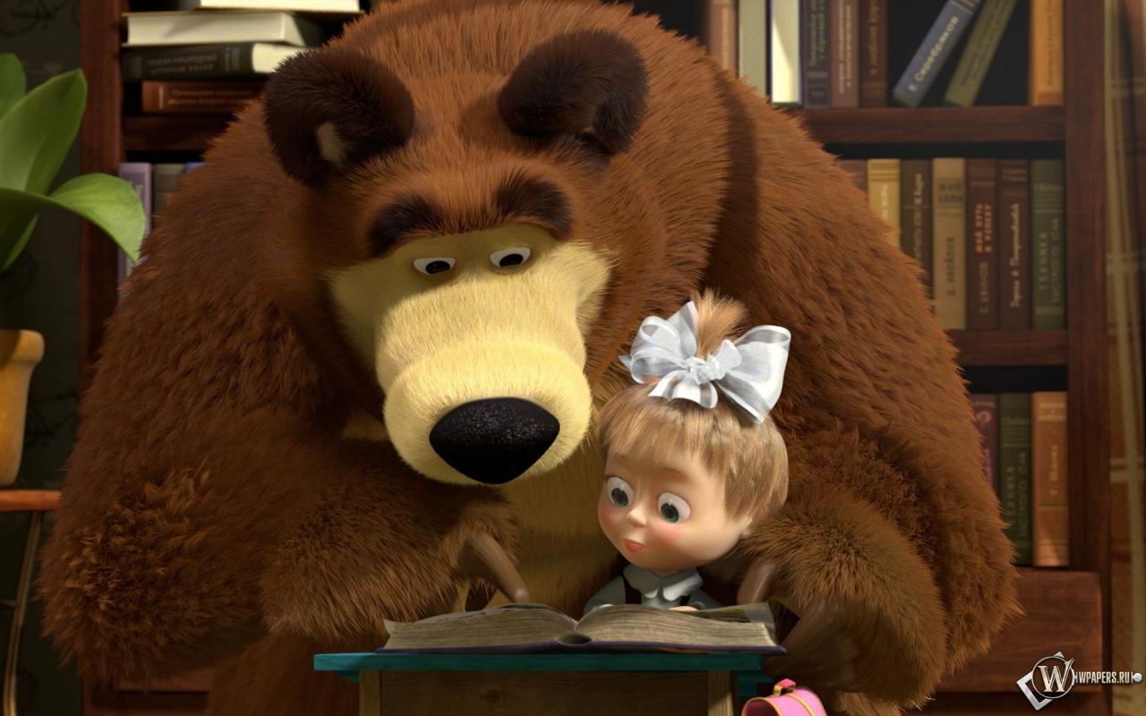 И медведь мультфильм обоев 32 маша и