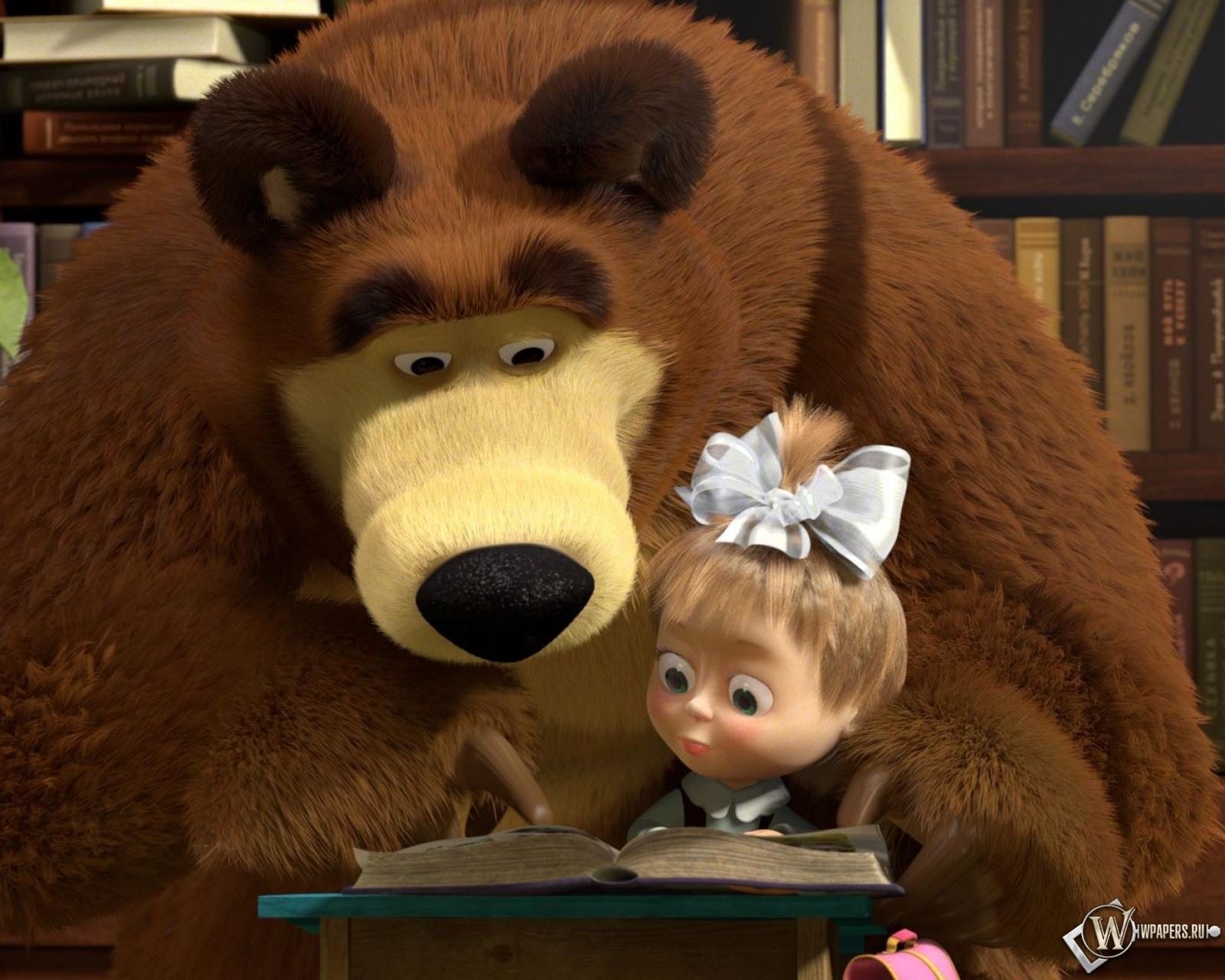 Обои маша и медведь мультфильм маша
