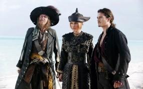 Обои Кеира Найтли с пиратами: Keira Knightley, Пираты Карибского моря, Пираты карибского моря